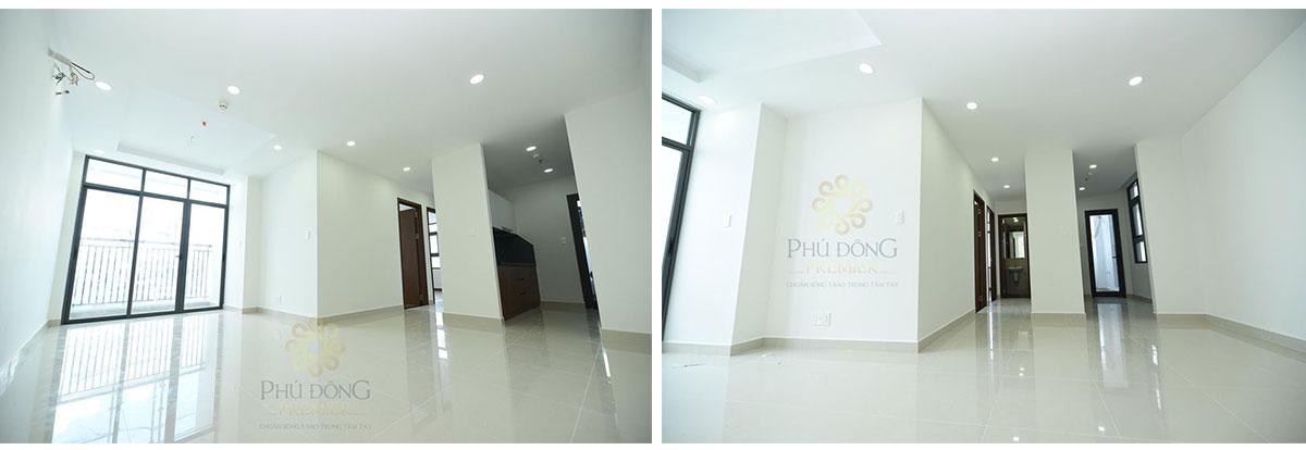 Phòng khách của căn hộ Phú Đông Premier