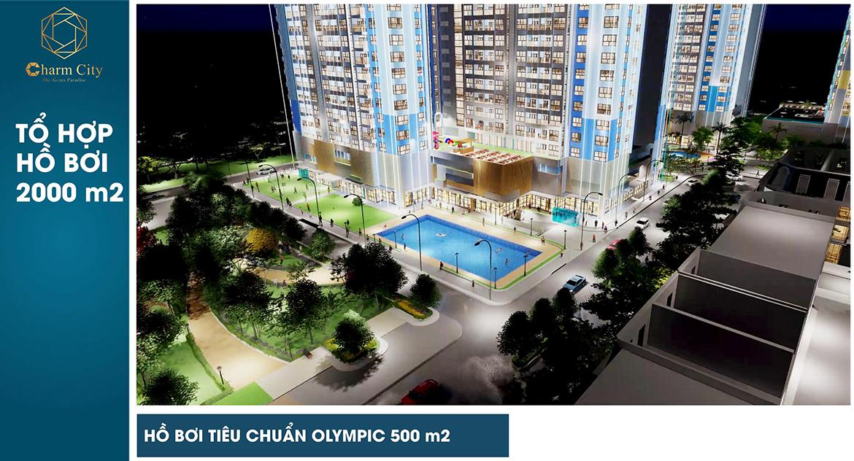 Tiện ích dự án căn hộ chung cư Charm City Dĩ An Bình Dương chủ đầu tư DCT Group