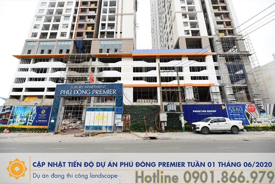 Tiến độ căn hộ Phú Đông Premier tháng 7/2020 | Hotline 0901.866.979